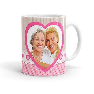 Caneca Personalizada Dia das Mães com Foto Branca