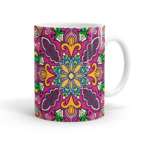 Caneca Porcelana Decorativa Home Decor 01 Branca