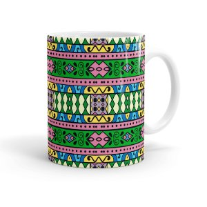 Caneca Porcelana Decorativa Home Decor 04 Branca