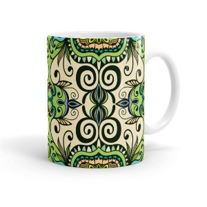 Caneca Porcelana Decorativa Home Decor 07 Branca