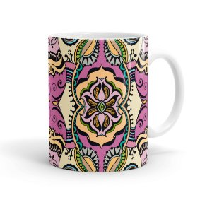 Caneca Porcelana Decorativa Home Decor 09 Branca
