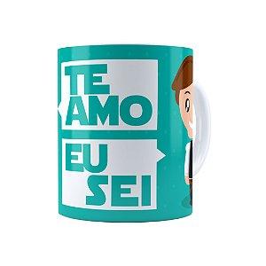 Caneca Porcelana Star Wars Princesa Leia E Han Solo Te Amo Branca