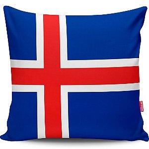 Almofada Bandeira da Islândia 40x40cm