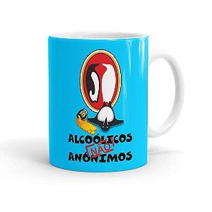 Caneca Porcelana Alcoólicos Não Anônimos Branca