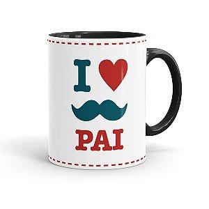 Caneca Personalizada Dia dos Pais I Love Pai Preta