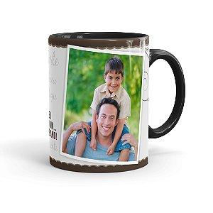 Caneca Personalizada Dia dos Pais Quanto Mais Preta