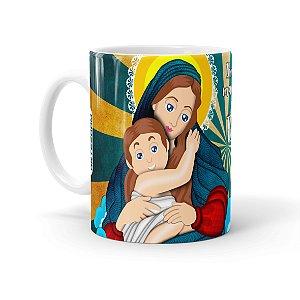 Caneca Porcelana Amor de Mãe Branca