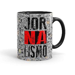 Caneca Porcelana Jornalismo Black Jornal Preta
