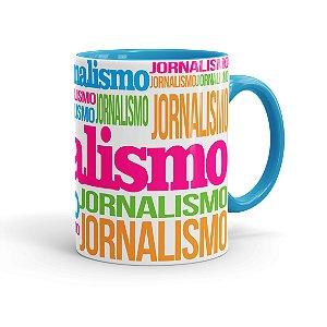 Caneca Porcelana Jornalismo Colors Azul Claro