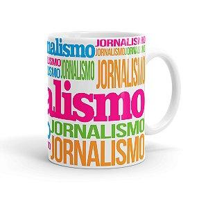 Caneca Porcelana Jornalismo Colors Branca