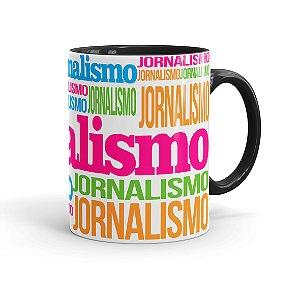 Caneca Porcelana Jornalismo Colors Preta