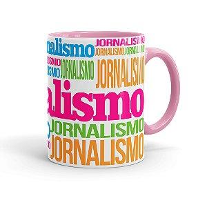 Caneca Porcelana Jornalismo Colors Rosa