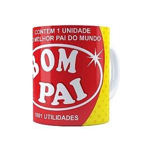 Caneca Porcelana Pai Bombril 1001 Utilidades Branca