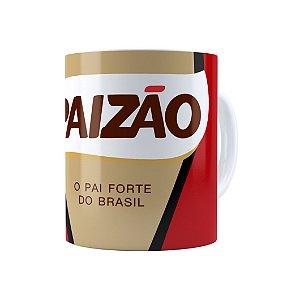 Caneca Porcelana Paizão Café Pilão Branca