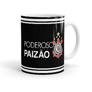 Caneca Porcelana Poderoso Paizão Corinthians Branca