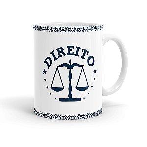 Caneca Porcelana Profissões Advogado 01 Branca