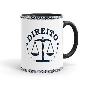 Caneca Porcelana Profissões Advogado 01 Preta