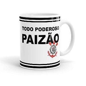 Caneca Porcelana Todo Poderoso Paizão Corinthians Branca