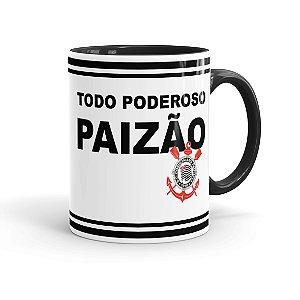 Caneca Porcelana Todo Poderoso Paizão Corinthians Preta