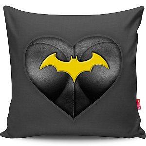 Almofada Coração de Herói Batgirl 40x40cm