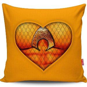 Almofada Coração de Herói Aquaman 40x40cm