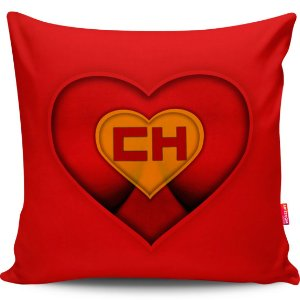 Almofada Coração de Herói Chapolin Girl 40x40cm