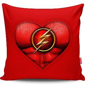 Almofada Coração de Herói Flash 40x40cm