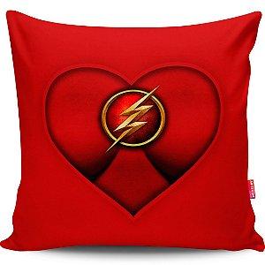 Almofada Coração de Herói Flash Girl 40x40cm