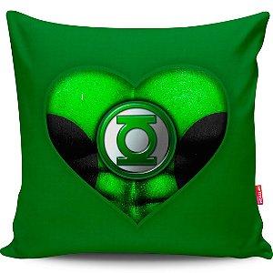 Almofada Coração de Herói Lanterna Verde 40x40cm