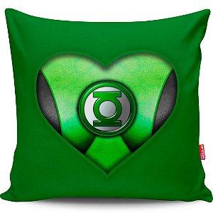 Almofada Coração de Herói Lanterna Verde Girl 40x40cm