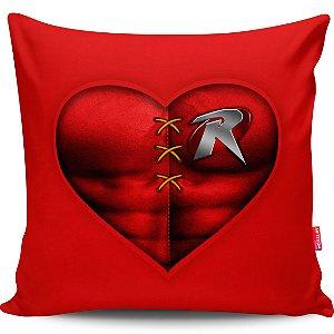 Almofada Coração de Herói Robin 40x40cm