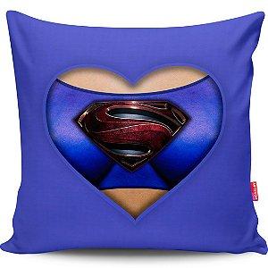 Almofada Coração de Herói Supergirl 40x40cm