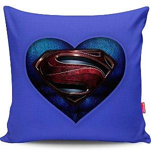 Almofada Coração de Herói Superman 40x40cm