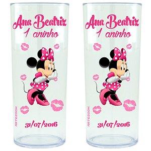Copo Personalizado Minnie Beijos