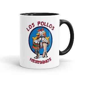 Caneca Porcelana Breaking Bad Los Pollos Hermanos 01 Preta