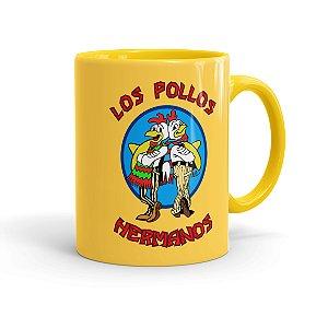 Caneca Porcelana Breaking Bad Los Pollos Hermanos 02 Amarela