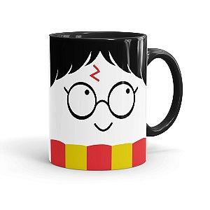 Caneca Porcelana Harry Potter Todos Temos Luz Preta