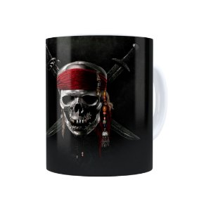 Caneca Porcelana Piratas do Caribe 01 Branca