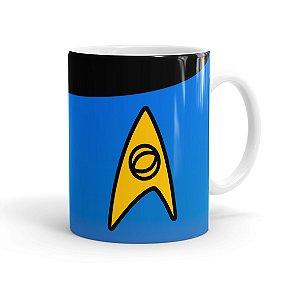 Caneca Porcelana Star Trek Ciência Branca
