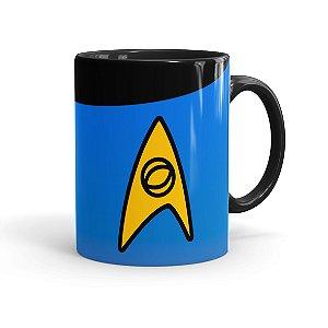 Caneca Porcelana Star Trek Ciência Preta