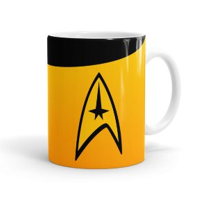 Caneca Porcelana Star Trek Comando Branca