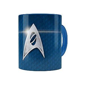 Caneca Porcelana Star Trek 01 Azul Marinho