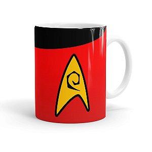 Caneca Porcelana Star Trek Engenharia Branca