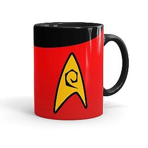 Caneca Porcelana Star Trek Engenharia Preta