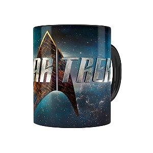 Caneca Porcelana Star Trek Series Preta