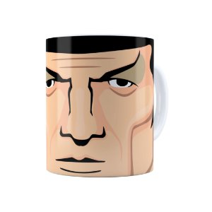 Caneca Porcelana Star Trek Spock 02 Branca