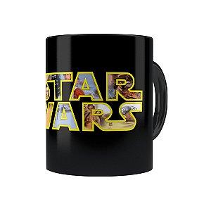 Caneca Porcelana Star Wars 04 Preta