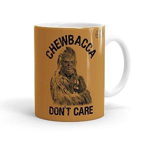 Caneca Porcelana Star Wars Chewbacca Dont Care 01 Branca