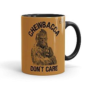 Caneca Porcelana Star Wars Chewbacca Dont Care 01 Preta