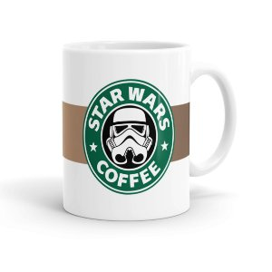 Caneca Porcelana Star Wars Coffee Branca